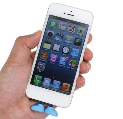 [iPhone][アクセサリー]iPhoneが自立するかもという防埃用イヤホンジャックがかわいい件