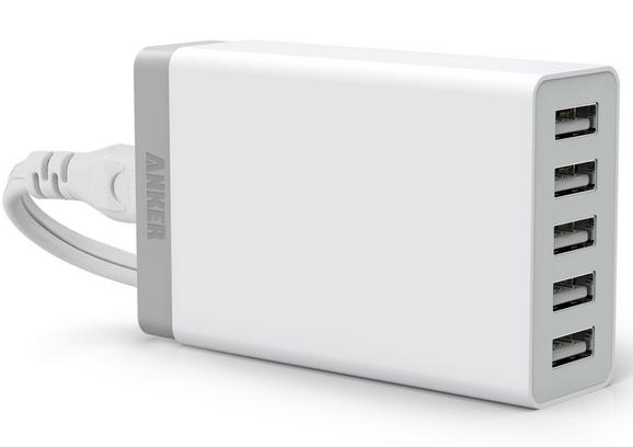 [Amazon][ANKER]5ポートUSB急速充電器が本日限定で2,079円タイムセール中!