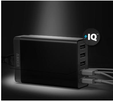 [ANKER]Anker 40W 5ポート USB急速充電器 ACアダプタ PowerIQ搭載を買ってみたよ