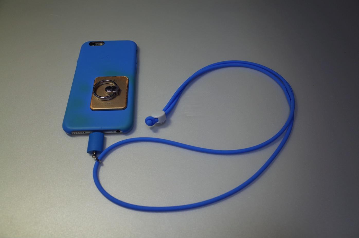 iPhone 6+Lightningコネクター用のネックストラップ-1