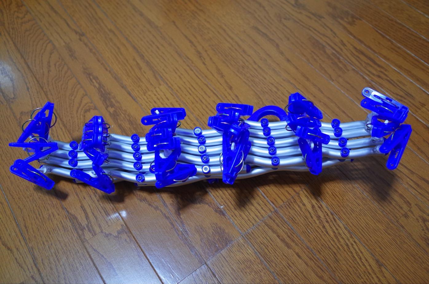 主婦の強い味方!コンパクト洗濯ハンガースペーススリム 伸縮ハンガー-9