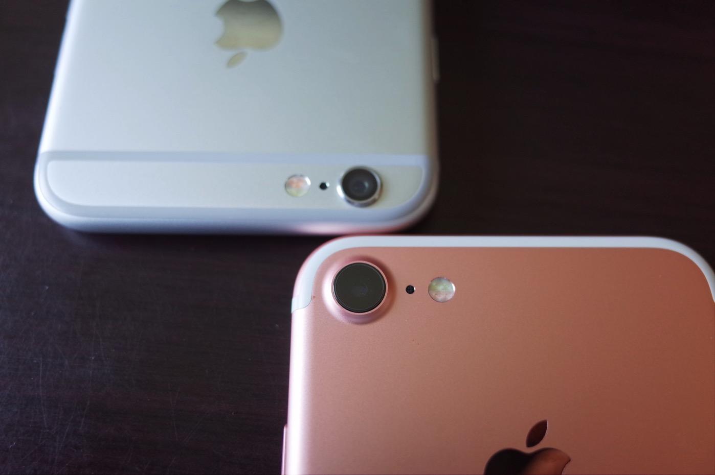 [iPhone]新型iPhone 7と愛用のiPhone 6を比べてみたよ
