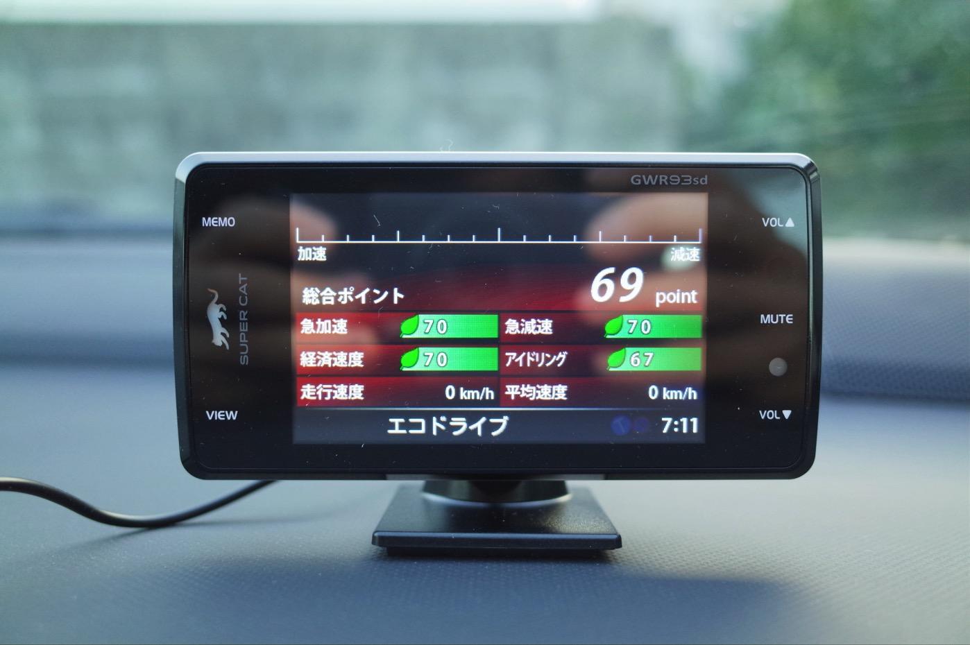 ユピテル レーダー探知機 スーパーキャット超高感度GPSアンテナ搭載 一体型 GWR93sd-16