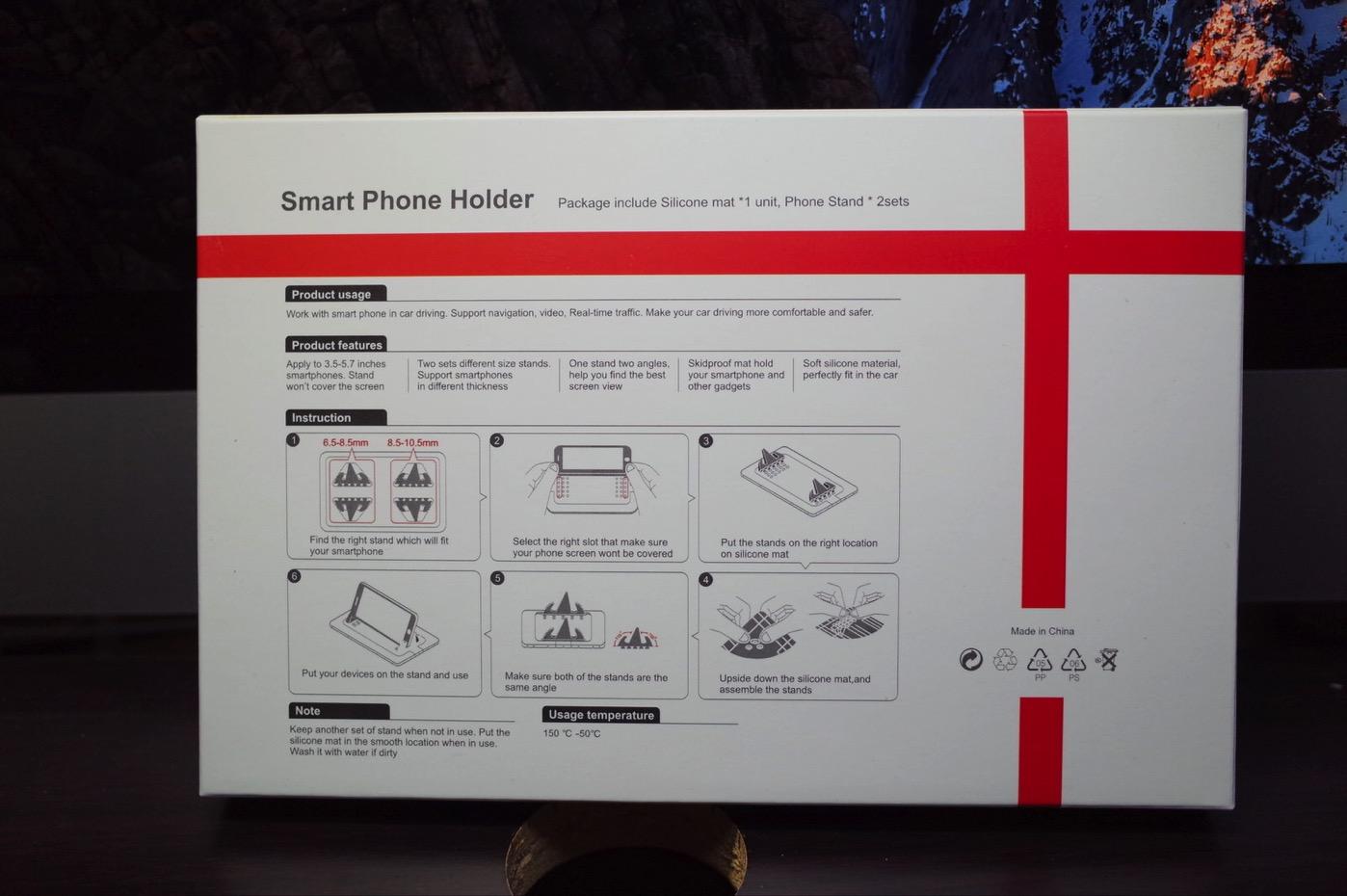 EReachシリコンスマートフォン・携帯車載GPSホルダー ダッシュボード iPhone&Android スタンド (黒)-2