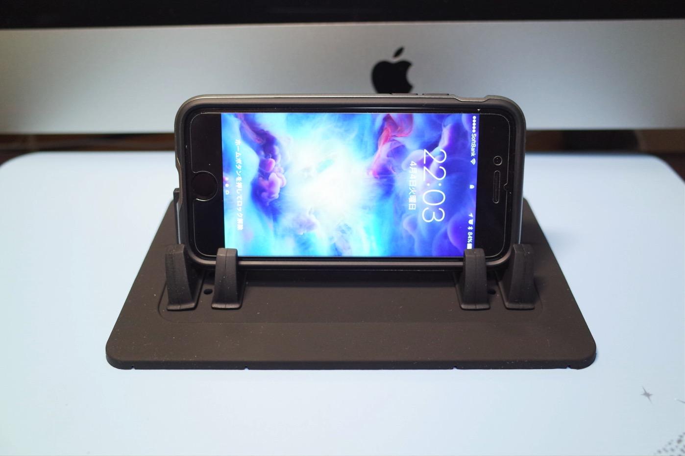 EReachシリコンスマートフォン・携帯車載GPSホルダー ダッシュボード iPhone&Android スタンド (黒)-13