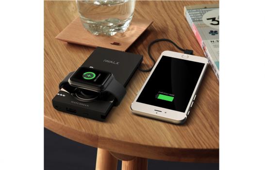 [iPhone]ライトニング(Lightning)ケーブル内蔵 iPhone/Apple Watch同時充電可能な大容量10000mAhのモバイルバッテリーを注文してみたよ