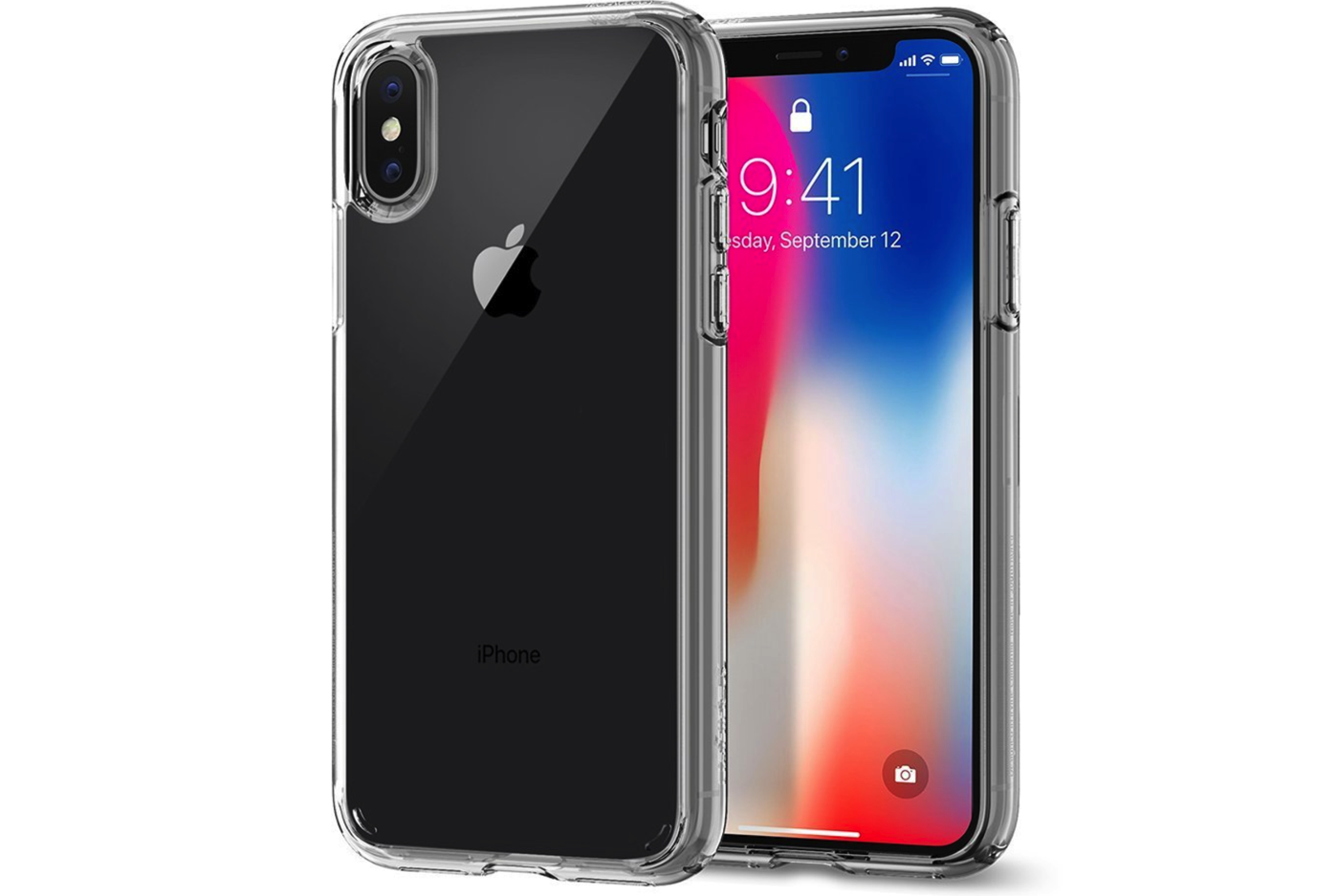 Spigen】iPhone X ケース, [ 米軍MIL規格取得 落下 衝撃 吸収 ] ウルトラ・ハイブリッド アイフォン X 用 耐衝撃 カバー
