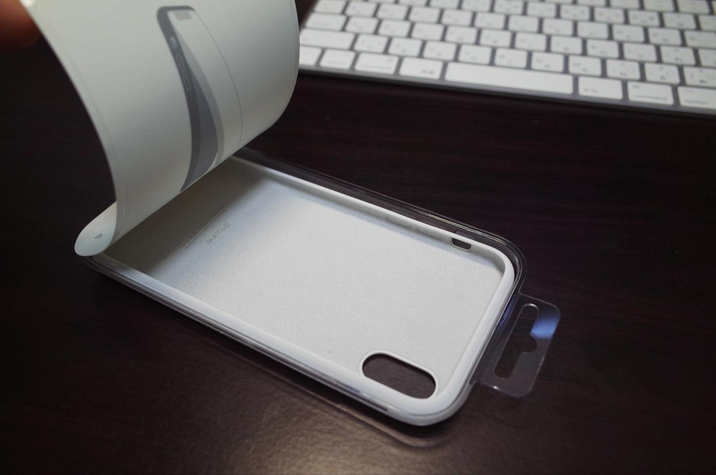 iPhone X シリコーンケース ホワイト-5