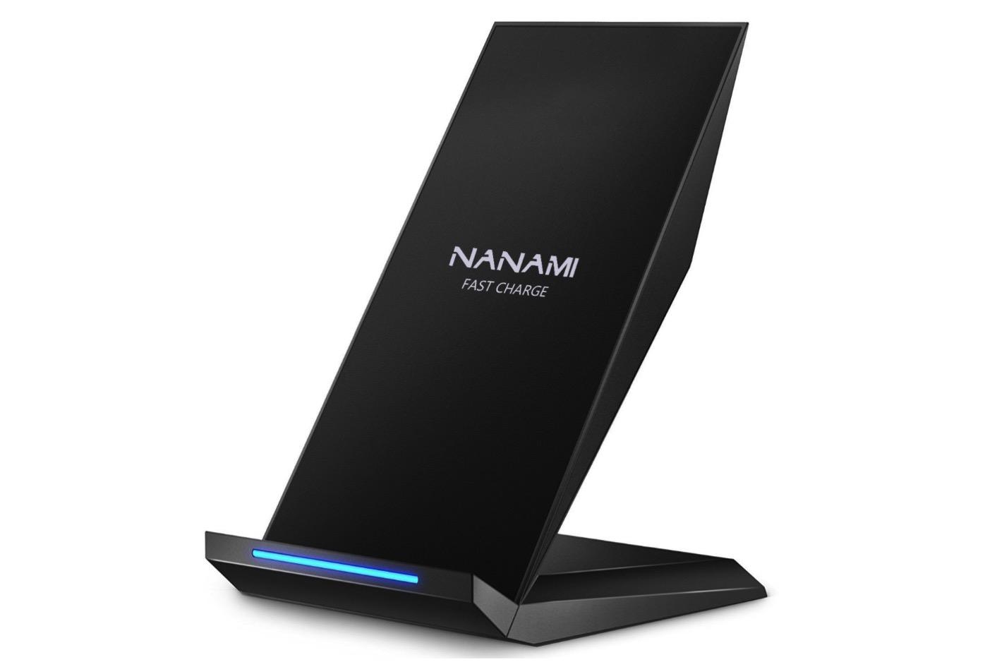 Qi 急速 ワイヤレス充電器 NANAMI Quick Charge 2.0 二つのコイル ワイヤレスチャージャー 置くだけ充電-1