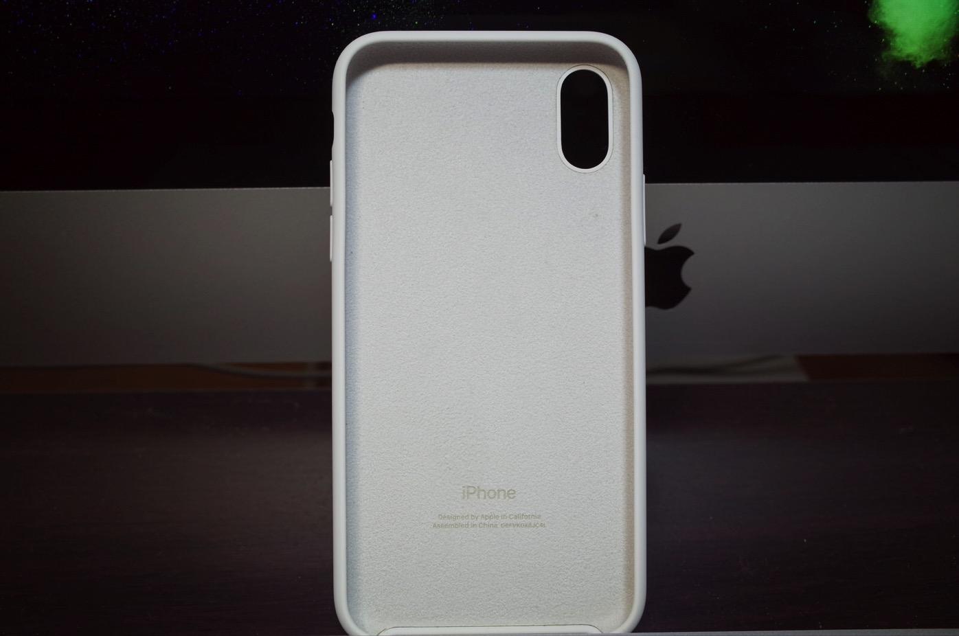 iPhone X シリコーンケース ホワイト-6