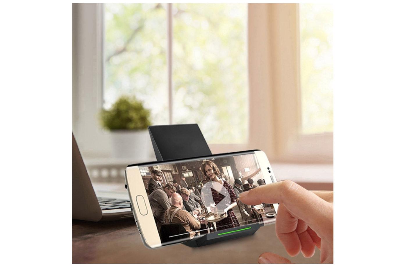 Qi 急速 ワイヤレス充電器 NANAMI Quick Charge 2.0 二つのコイル ワイヤレスチャージャー 置くだけ充電-4