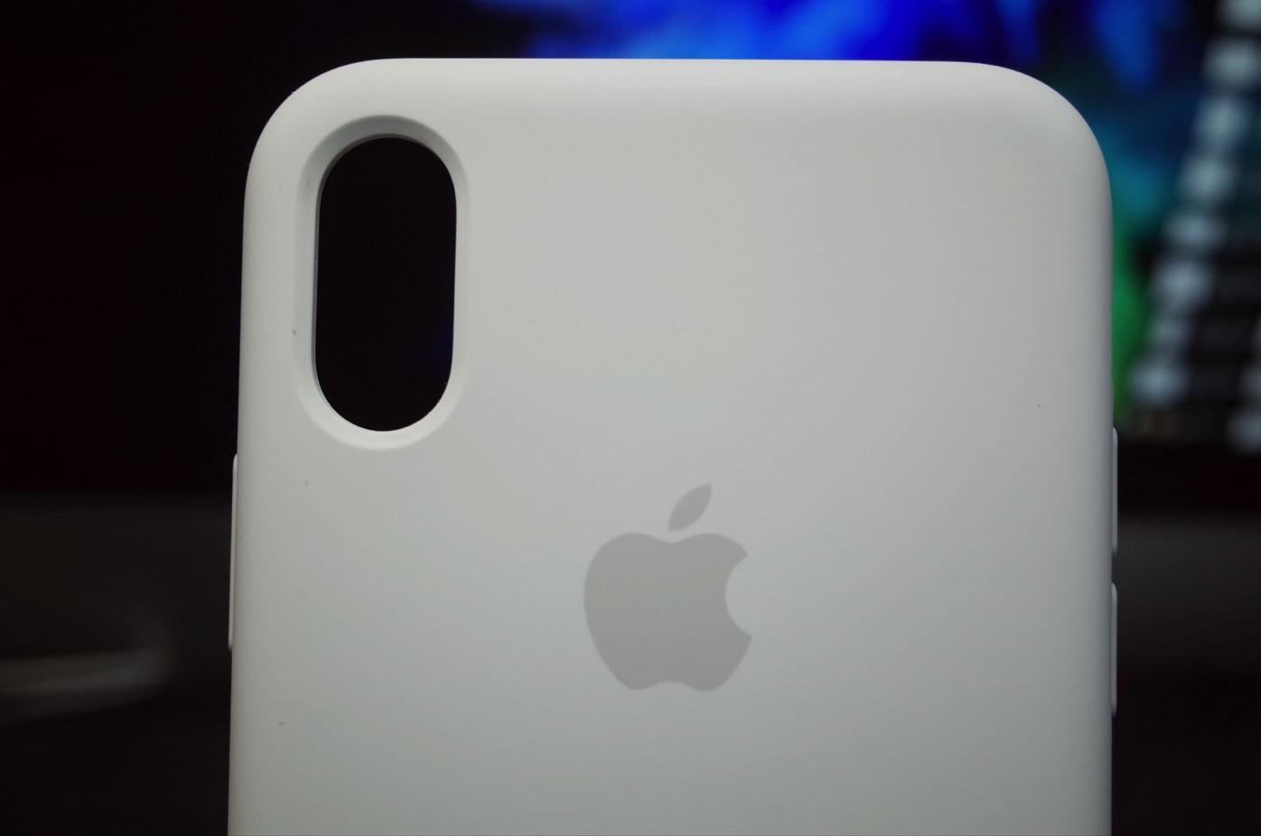 iPhone X シリコーンケース ホワイト-9
