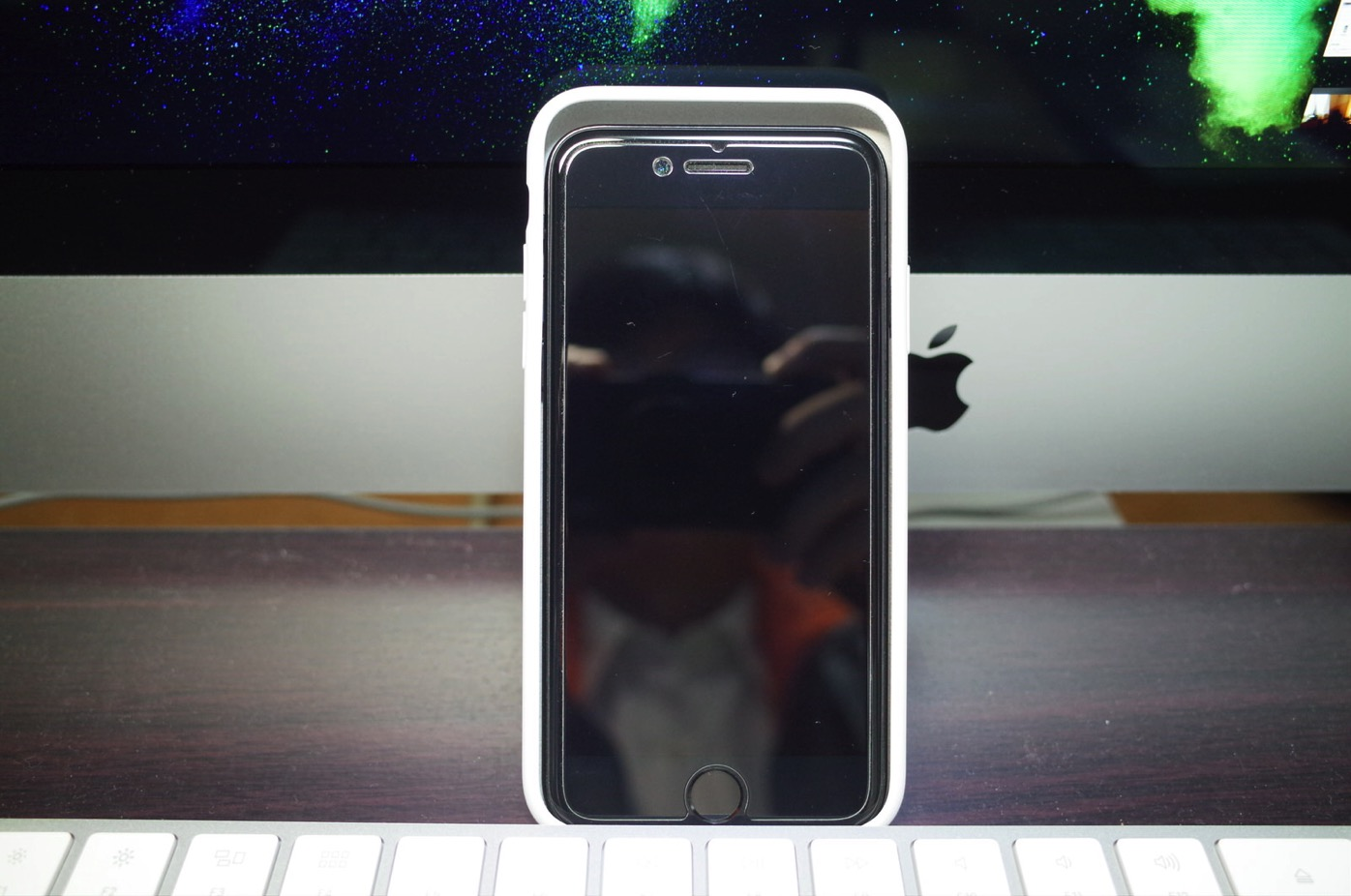 iPhone X シリコーンケース ホワイト-12