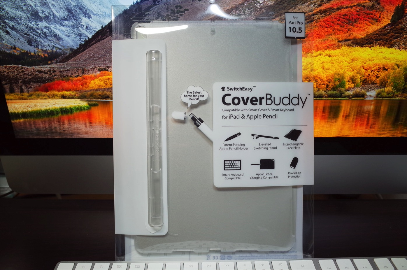 iPad Pro 10.5 ケース SwitchEasy CoverBuddy ハード バック カバー Apple Pencil 収納付き 純正 スマートキーボード 対応-1