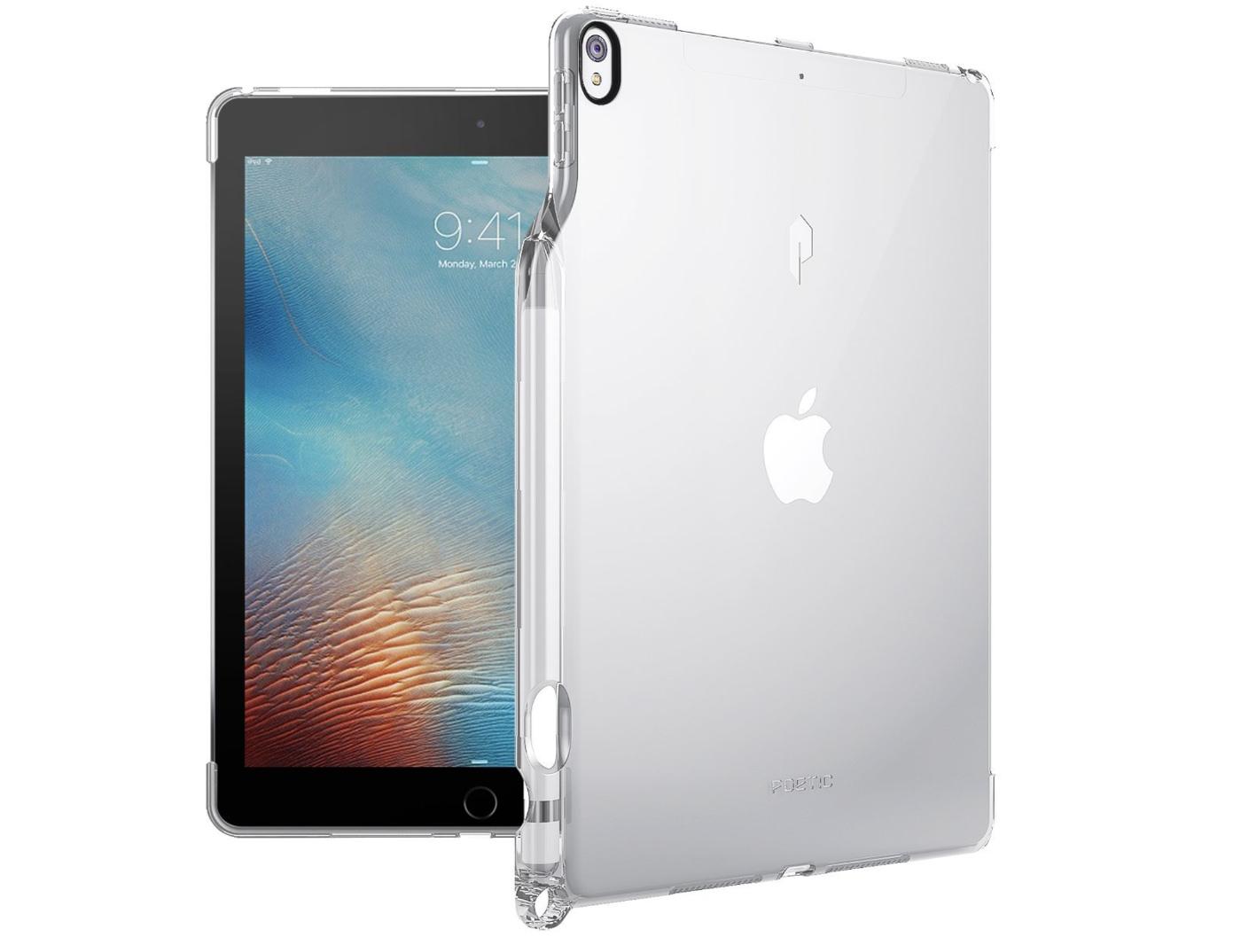 Apple Pencil」収納スロット&「Smart Keyboard」対応iPad Pro 10.5 ケース Poetic-1
