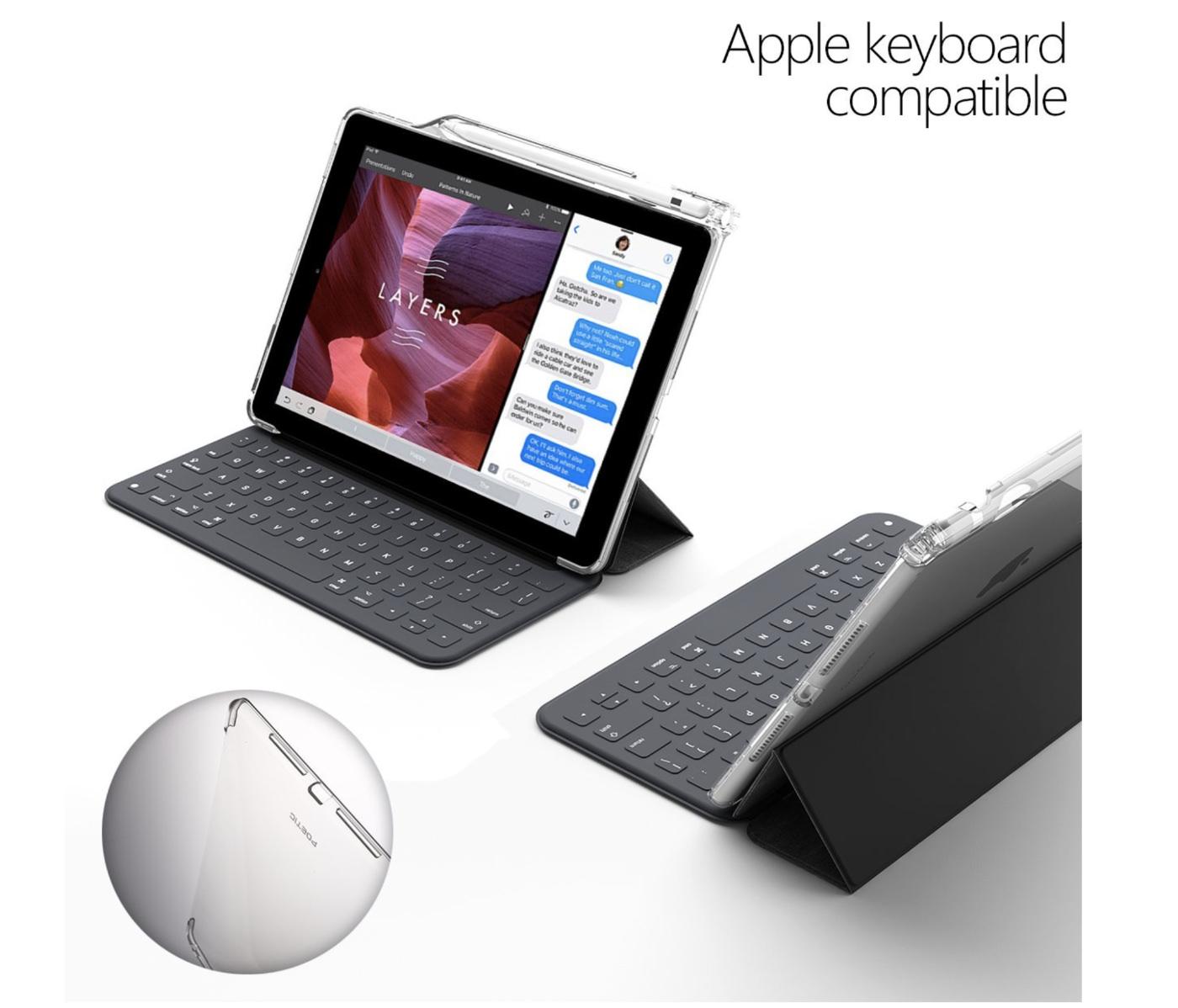 Apple Pencil」収納スロット&「Smart Keyboard」対応iPad Pro 10.5 ケース Poetic-4