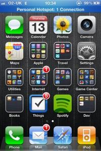 iPhone 5のテザリングがサクッと繋がらなかったのは確認不足だった件