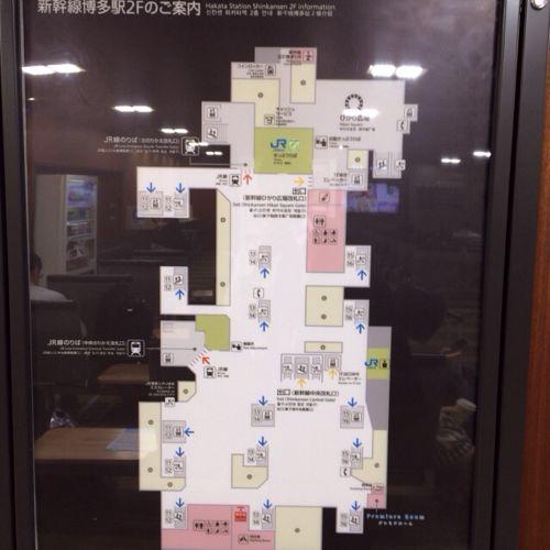 博多駅構内見取り図