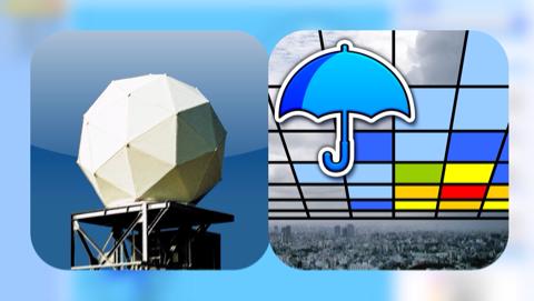[iPhone][アプリ]天気アプリ『そら案内』と補完するのに使ってる『Xバンドレーダー』両刀使いで効率的なスケジュール管理がしやすくなった件