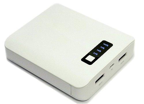 [ガジェット]コスパ比較!【Amazon.co.jp限定】smart ways モバイルバッテリー 10000mAh 2USBポートが2000円ちょっとで買えちゃうとは!