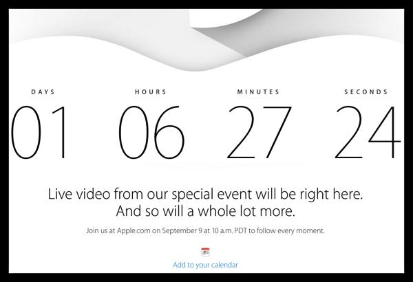 [Apple]アップルスペシャルイベントまで残り1日と6時間余り