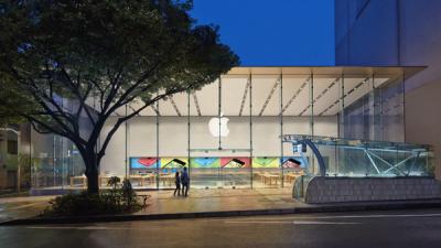 [Apple]アプリ「Apple Store」で表示される「お近くのストア」の距離は直線距離で表示されています
