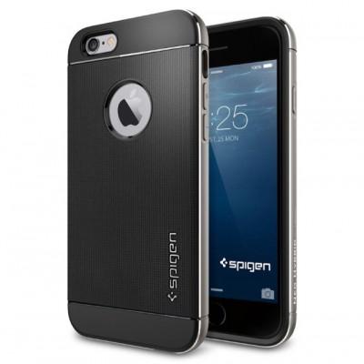 [iPhone][ケース]見た目・触感・堅牢性どれをとっても980円とは思えないSpigen [ リアル アルミニウム バンパー] ネオ・ハイブリッド メタル