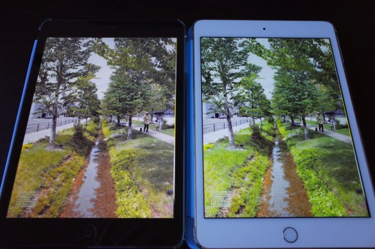 [Apple]やはり「iPad mini 4」のRetinaディスプレイは綺麗すぎる!初代iPad miniと簡単に比べてみたよ