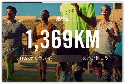 [NIKE]2016年1年間の出走距離は1369kmでした。今年1年ありがとうございます。