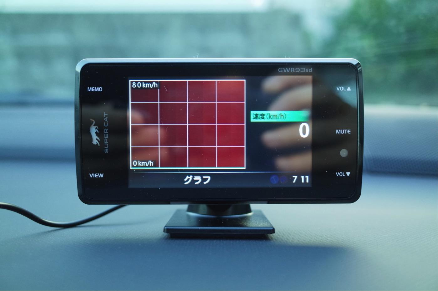 ユピテル レーダー探知機 スーパーキャット超高感度GPSアンテナ搭載 一体型 GWR93sd-20
