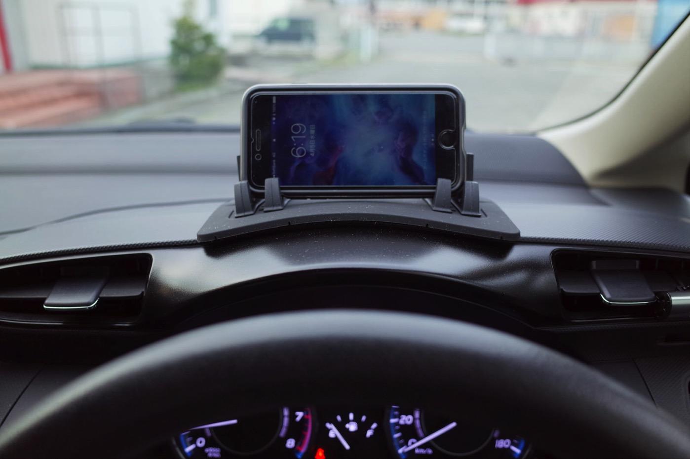 EReachシリコンスマートフォン・携帯車載GPSホルダー ダッシュボード iPhone&Android スタンド (黒)-1
