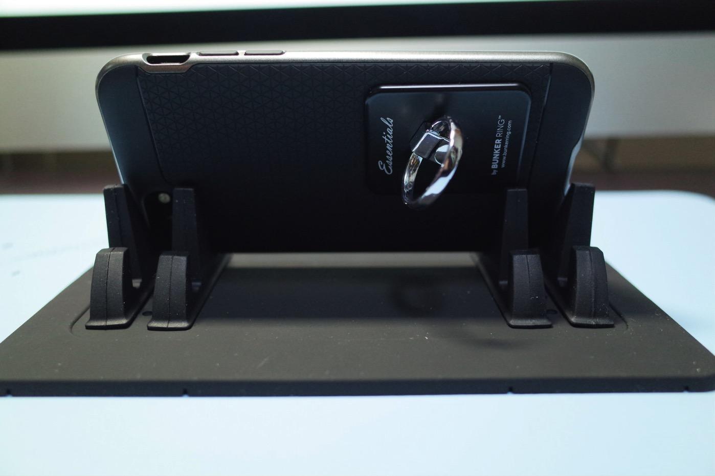 EReachシリコンスマートフォン・携帯車載GPSホルダー ダッシュボード iPhone&Android スタンド (黒)-11