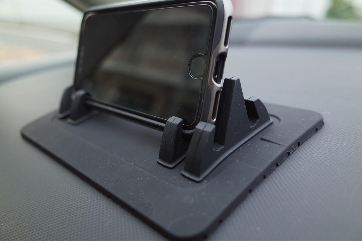 EReachシリコンスマートフォン・携帯車載GPSホルダー ダッシュボード iPhone&Android スタンド (黒)-8