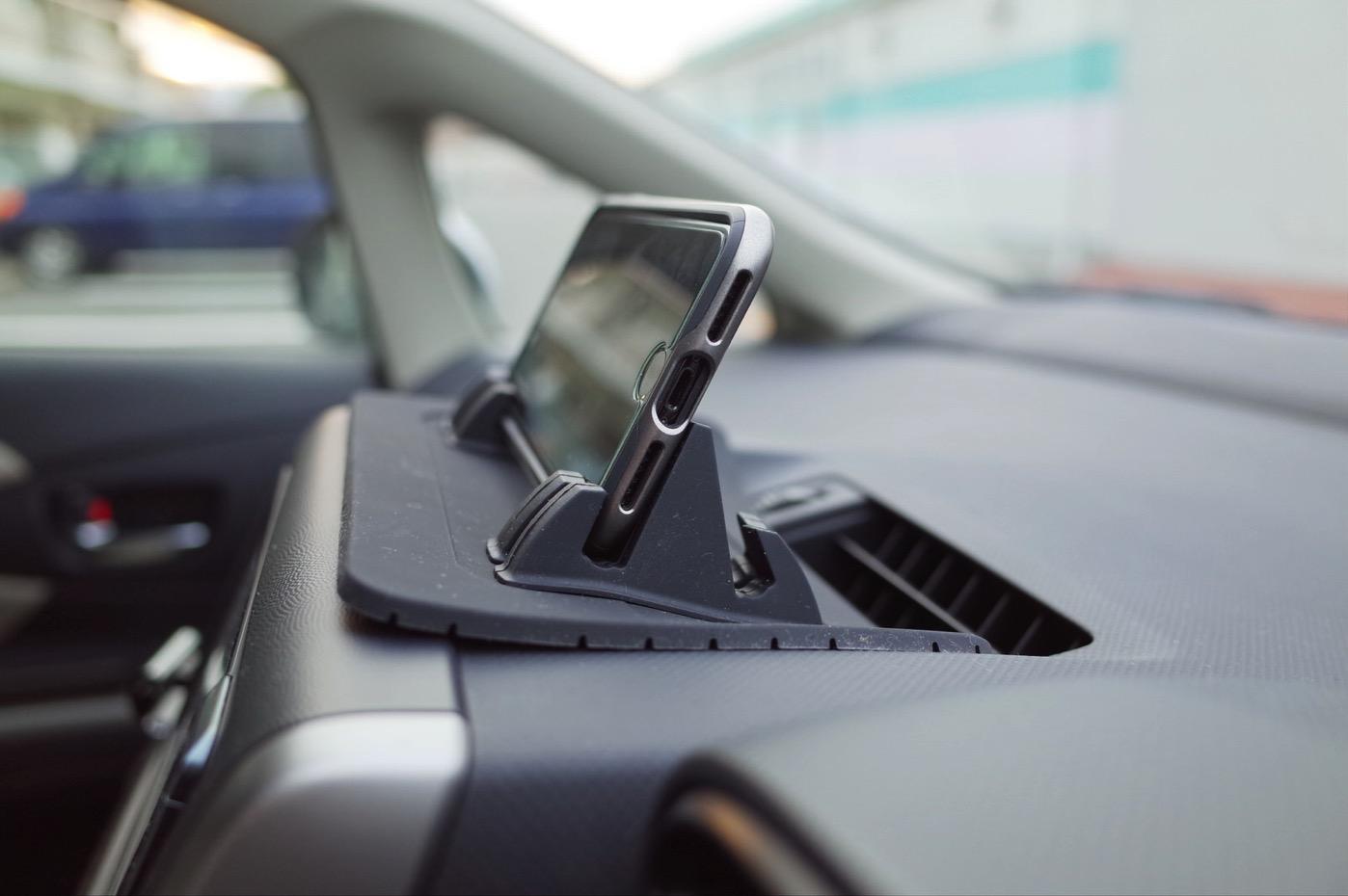 EReachシリコンスマートフォン・携帯車載GPSホルダー ダッシュボード iPhone&Android スタンド (黒)-6