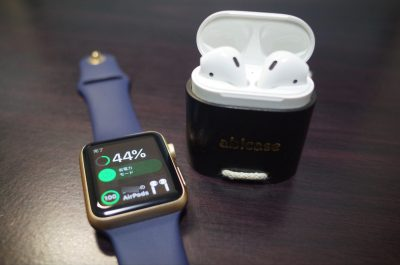 [AirPods]Apple Watchを用いてワンタップでAirPodsの充電残量を確認する一つの方法