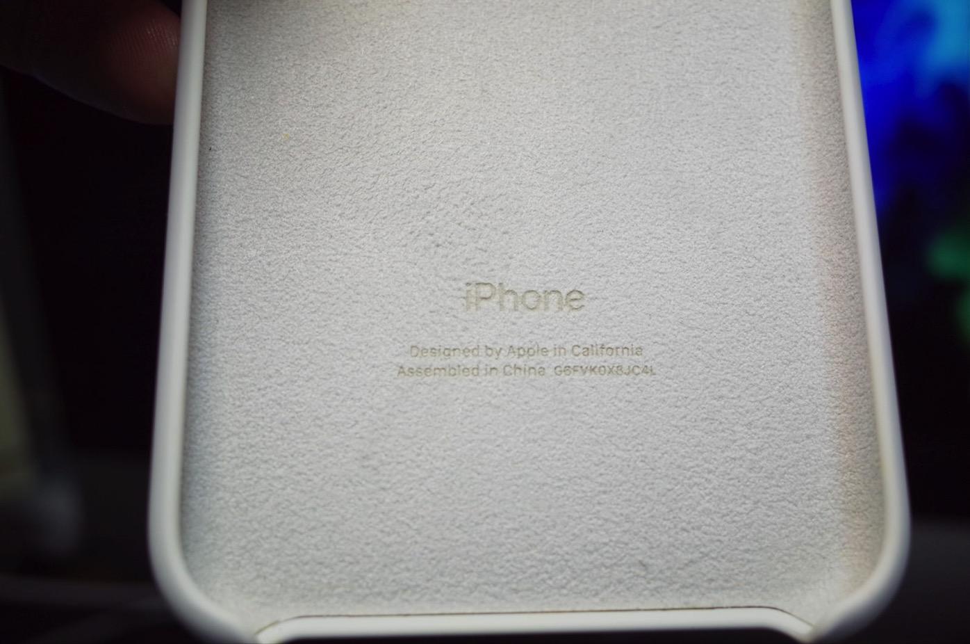 iPhone X シリコーンケース ホワイト-7