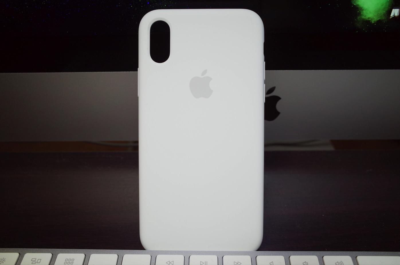 iPhone X シリコーンケース ホワイト−8