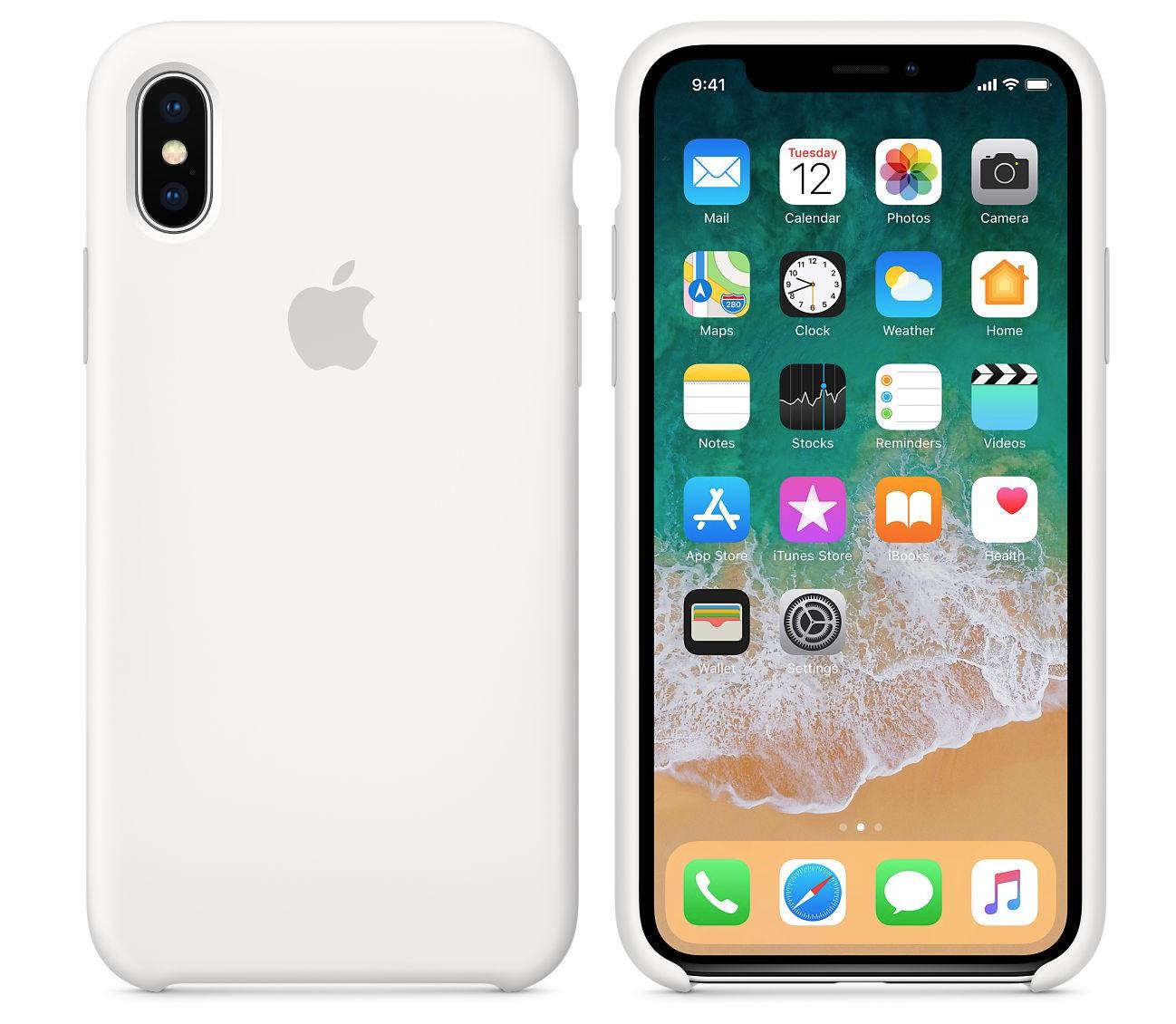iPhone X シリコーンケース ホワイト-1