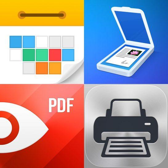 [アプリ]究極のiOS仕事効率化パック(PDF Expert 5、Scanner Pro、Calendars 5、Printer Pro)がiPhoneに反映されてない?!