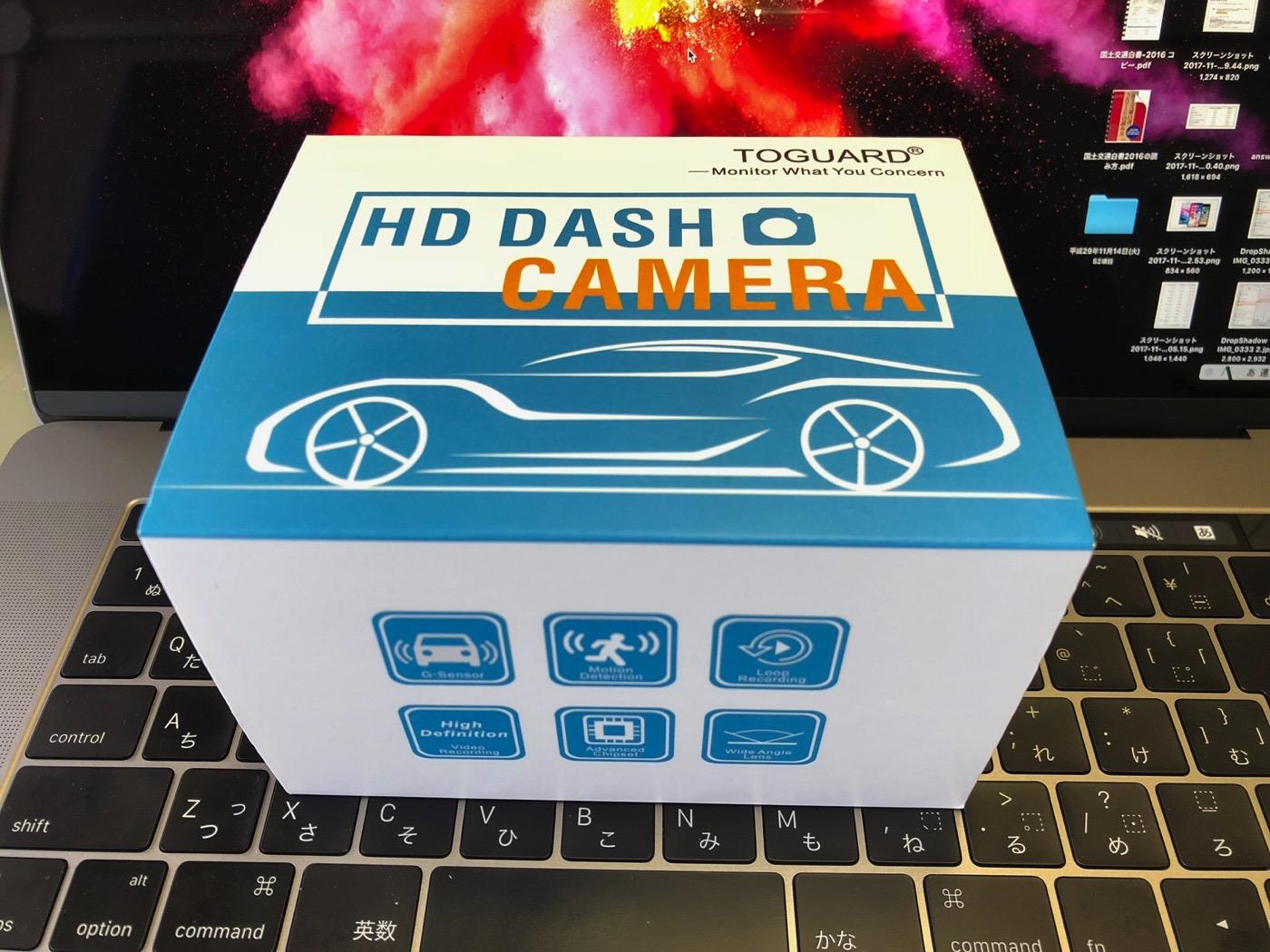 Toguard ドライブレコーダー ドラレコ 1080P フルHD 動き検知 常時録画 上書き録画 Gセンサー搭載 16Gカード付属-1
