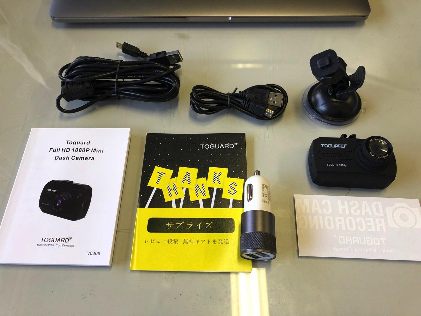 Toguard ドライブレコーダー ドラレコ 1080P フルHD 動き検知 常時録画 上書き録画 Gセンサー搭載 16Gカード付属-2