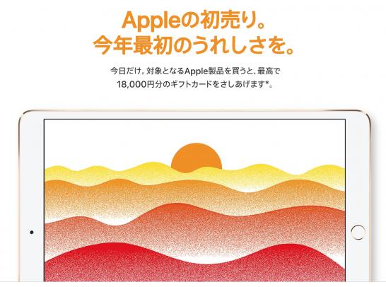 [Apple]初売りでギフトカードが貰えるので愛機「iPad Pro」が試しにいくらになったのか試算してみたよ