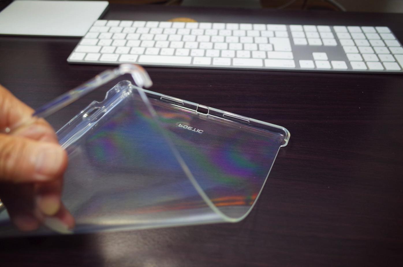 iPad Pro 10.5 ケース Poetic -[Lumos Series]- アップル 10.5型 アイパッド プロ 対応 [ウルトラスリム] [TPU製 ケース] Smart Keyboard 対応 Apple Pencil 収納スロット付き (クリスタルクリア)-6