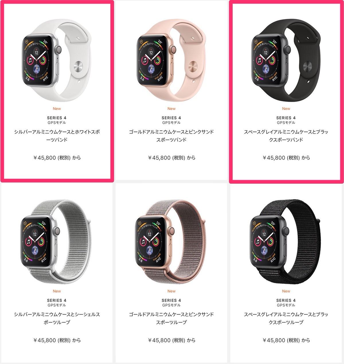Apple Watch Series 4(GPSモデル)- 44mmスペースグレイアルミニウムケースとブラックスポーツバンド-4