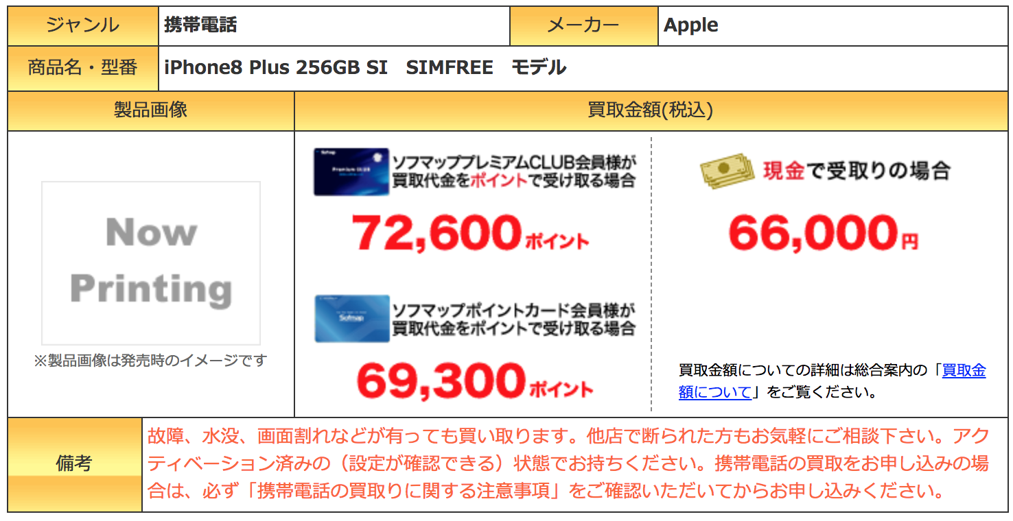 iPhone 8 Plus 買取価格