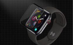 [Apple Watch]新型 Apple Watch Series 4 (44mm)用キズ防止のため液晶画面全面タイプ飛散防止処理保護フィルム(ブラック)を注文したよ