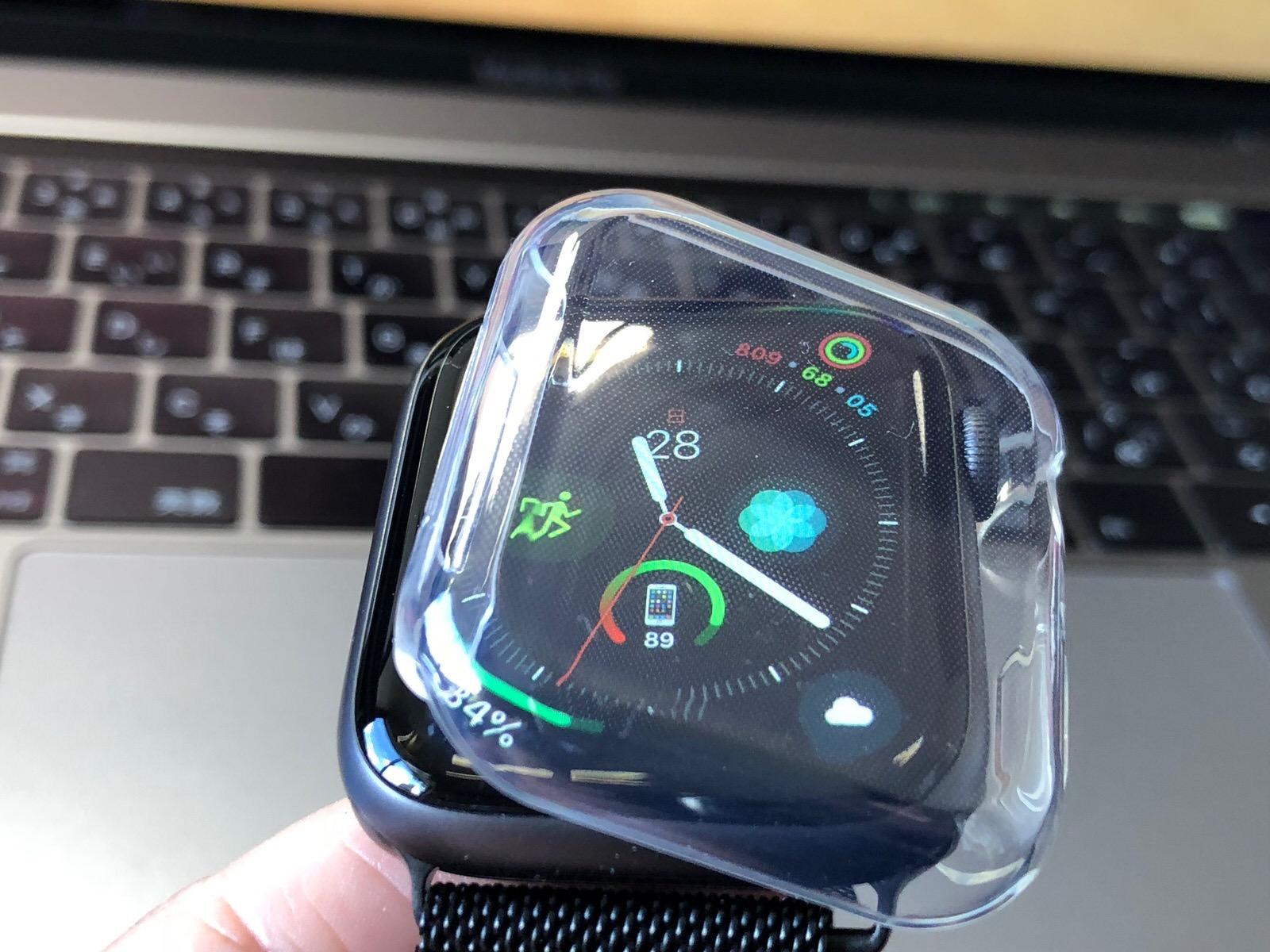 TOWOOZ【全面保護】Apple Watch 44MM ケース 透過率99% 柔軟 薄型Apple Watch Series 4 ケース-4