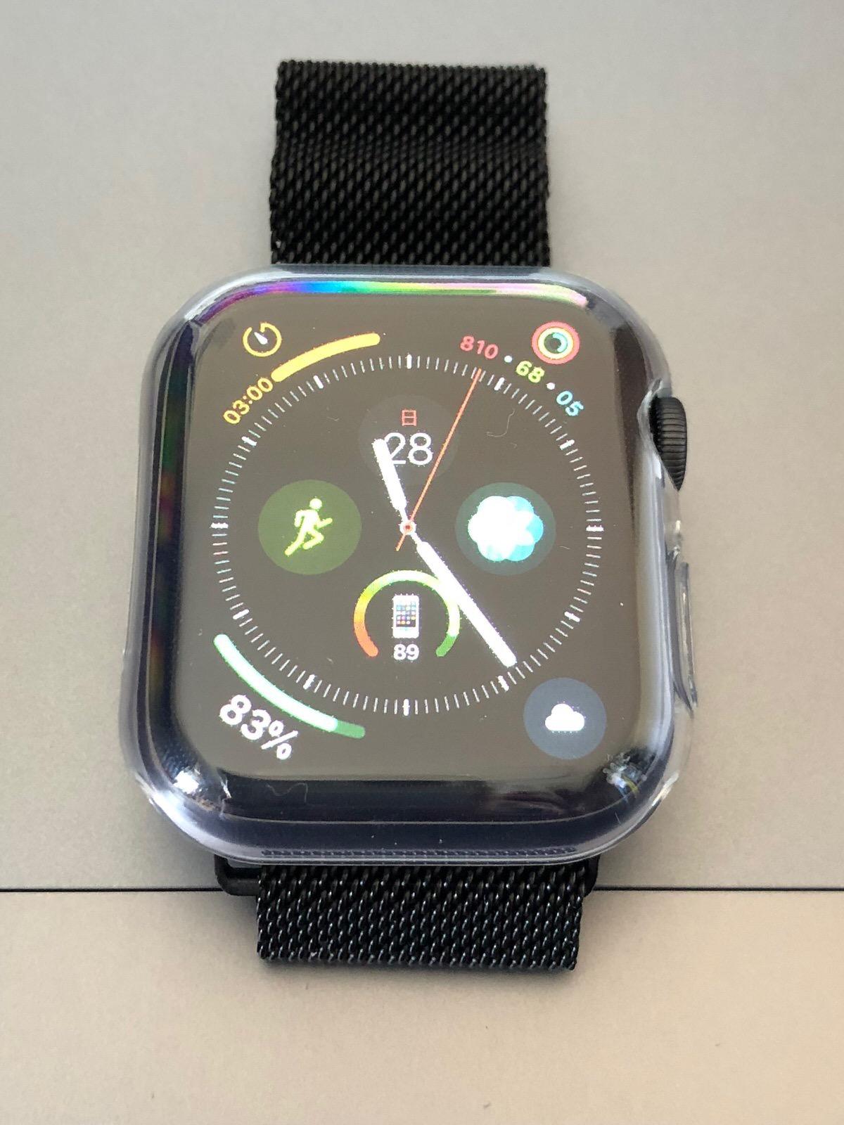 TOWOOZ【全面保護】Apple Watch 44MM ケース 透過率99% 柔軟 薄型Apple Watch Series 4 ケース-5