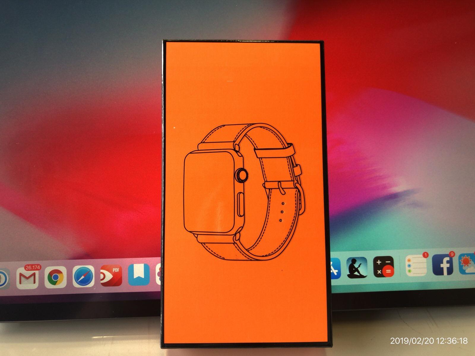 BRG コンパチブル Apple Watch Series 4(44mm)本革バンド(ブラウン)−1