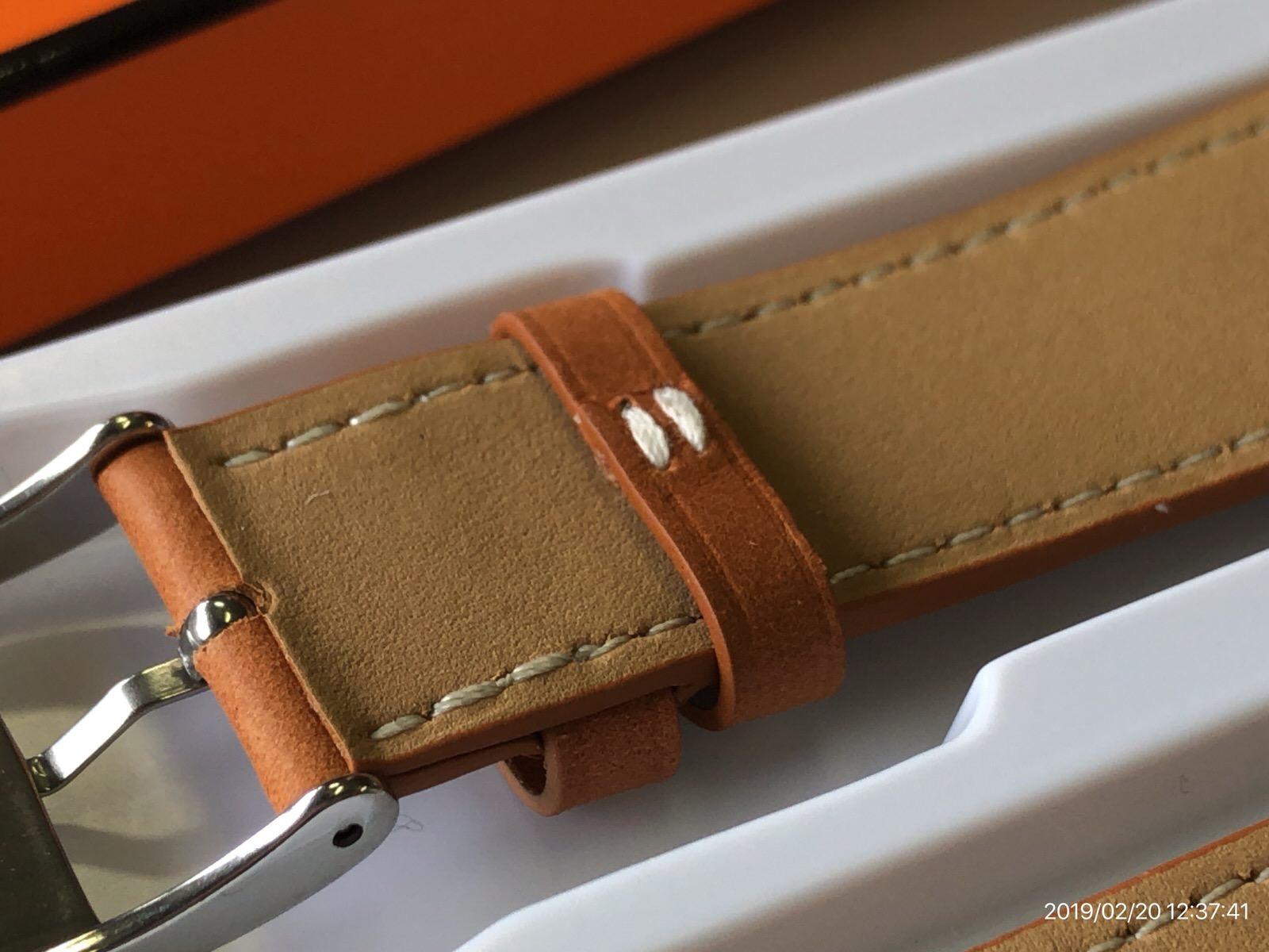 BRG コンパチブル Apple Watch Series 4(44mm)本革バンド(ブラウン)−5